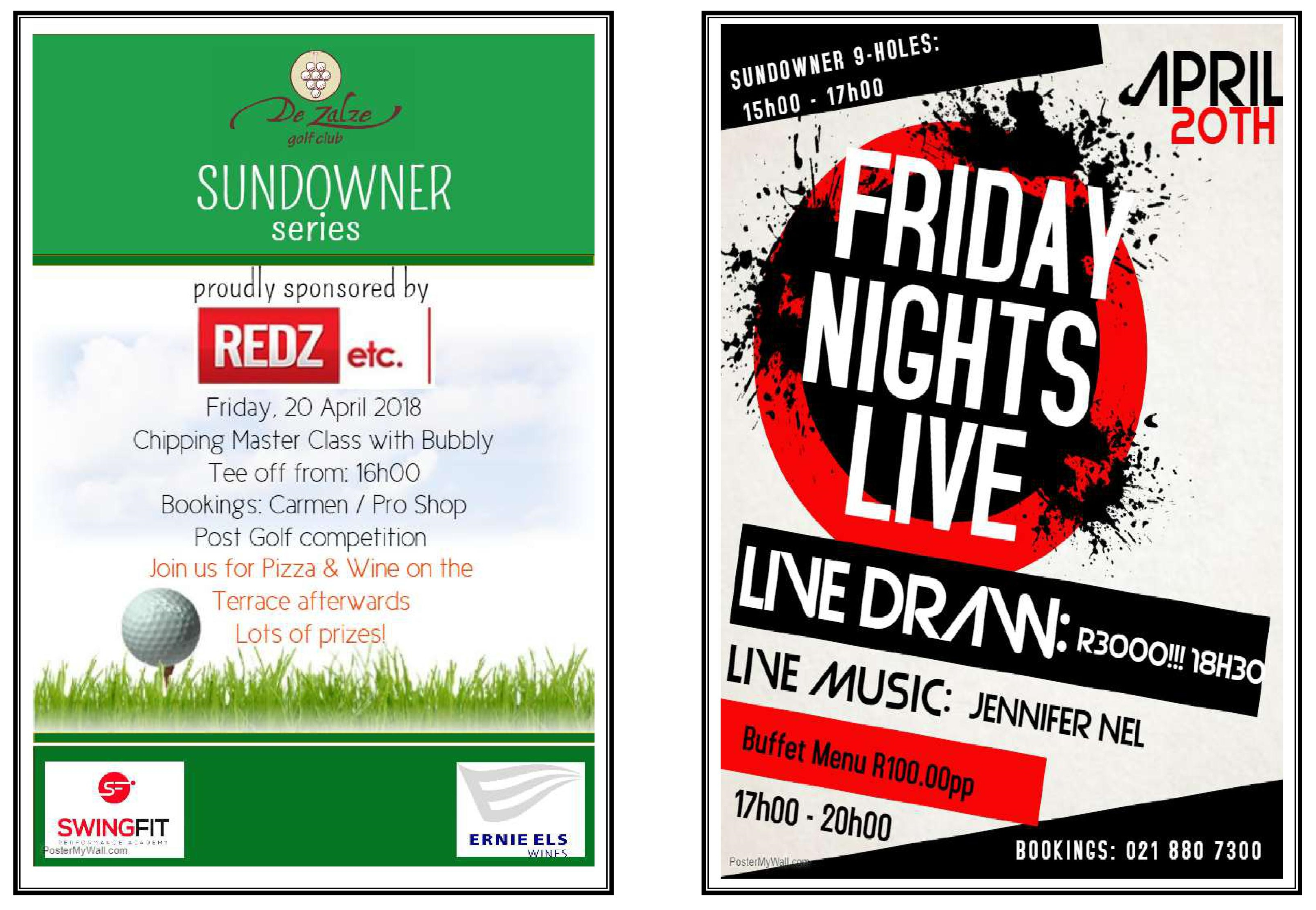 Sundowner Series & Friday Nights LIVE